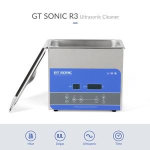 Image 2 - GTSONIC R3 ultradźwiękowa 3L 100W z cyfrowym wyświetlaczem ogrzewanie Degas Basket ultradźwiękowa kąpiel