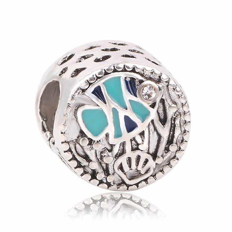 Dodocharms כסף צבע אהבת כוכב דגי סולמות מיקי אוקיינוס DIY חרוז קסמי Fit פנדורה צמידים & צמידי שרשרת תכשיטים