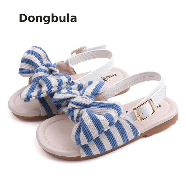 2019children Toddler Sandals For Girls Beach Shoes Summer Kids Casual Open Toe Flat Soft Anti-slip Baby Princess Leather Sandals