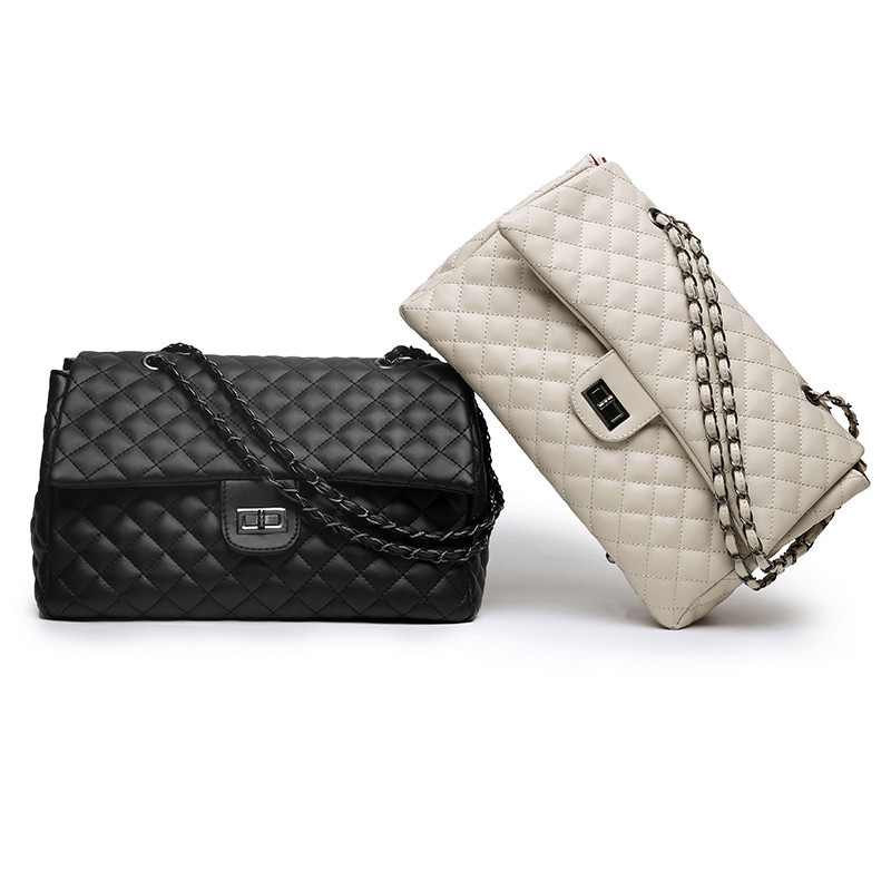 Classic Diamond Pattern Women Plaid Messenger Bag Big Square Female Shoulder Bags Rhombus Lattice Large Size Luxury Lady Handbag in Top Handle Bags from Luggage Bags
