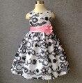 Famosa marca infant toddler party girl dress bordado 3d flor dress tutú de las muchachas del bebé de la novedad vestidos high street