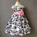 famous brand toddler girl party dress 3D flower embroidery infant dress novelty tutu girls baby dresses high street