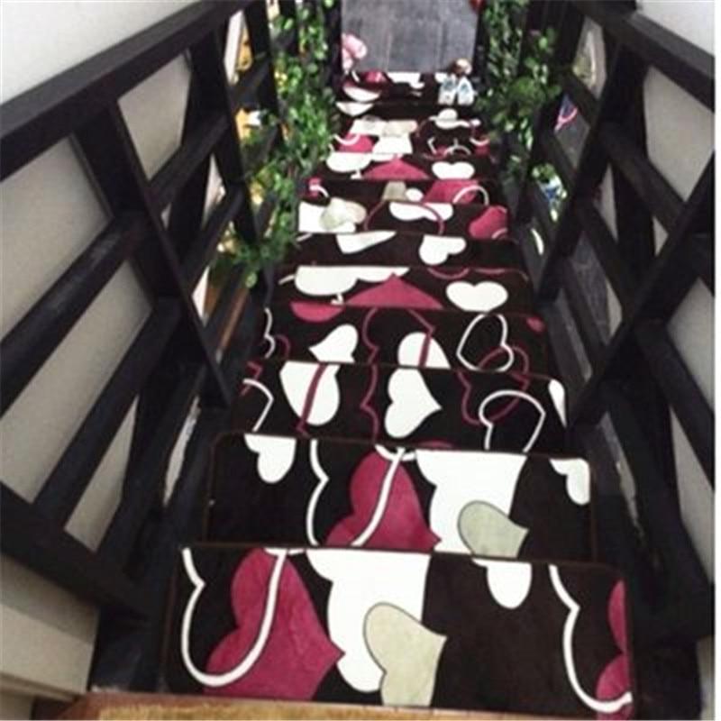 tapis d escalier moderne rouge antiderapant pour escalier de maison pour couloir decoration de la maison