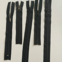 50 шт./лот дешевые Ykk 3# Нейлоновая Молния Близкий Конец черный для карман джинсовые брюки штаны прямого кроя воротник и сумка Портной Швейные аксессуары