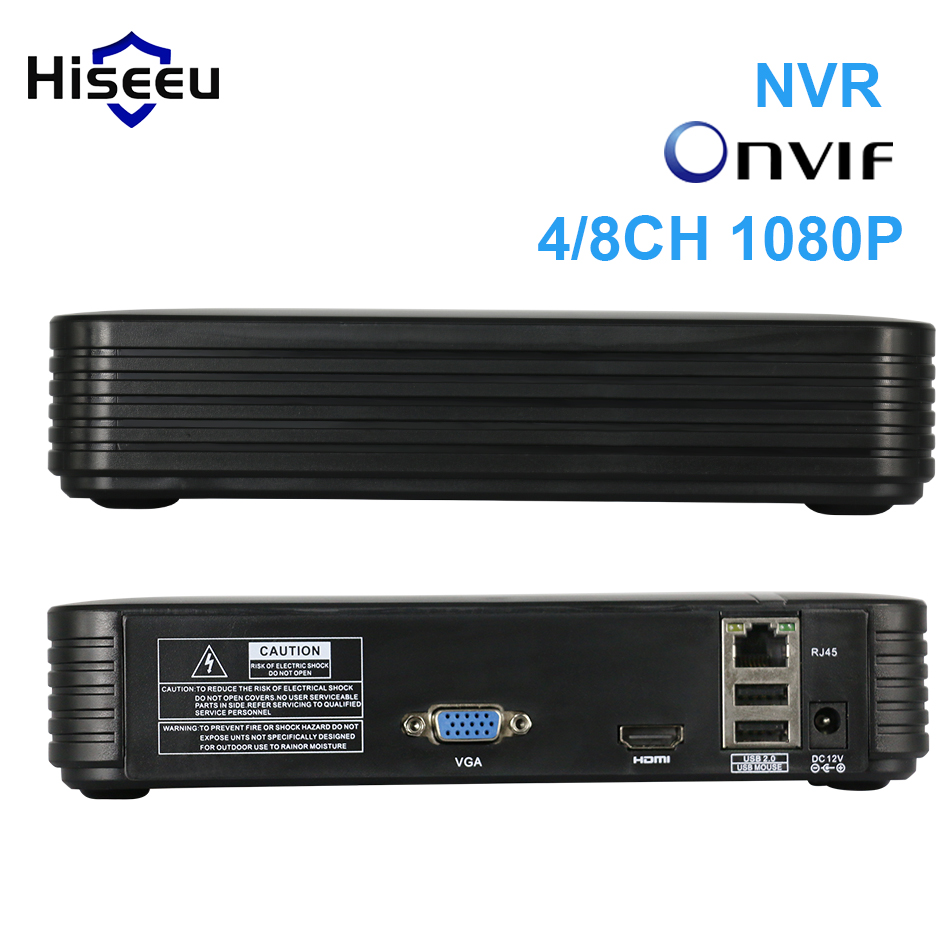 Hiseeu 4Ch 8Ch Mini NVR real P2P CCTV network video recorder VGA HDMI ouput ONVIF 2.0 For 1080P IP Camera Security System XMeye hiseeu 8ch 960p dvr video recorder for ahd camera analog camera ip camera p2p nvr cctv system dvr h 264 vga hdmi dropshipping 43