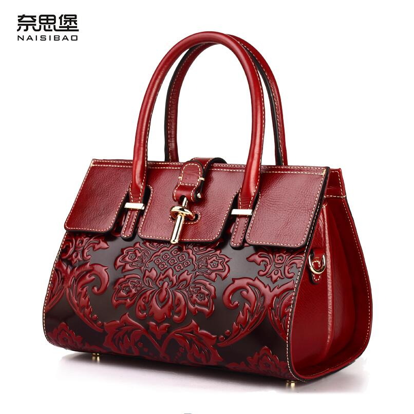 2017 New genuine leather women bag chinese style embossing fashion women handbags shoulder bag perfectly leather cowhide bag 2016 new women genuine leather bag fashion chinese style top quality cowhide embossing women leather handbags shoulder bag