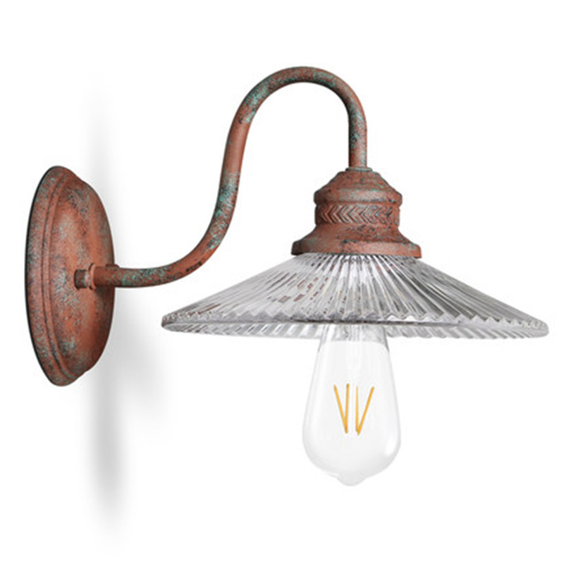 Retro Loft Style Iron Glass Edison Wall Sconce Antique LED Wall Lamp Industrial Vintage Wall Light Fixtures Indoor Lighting loft style vintage wall lamp industrial creative iron retro wall light fixtures simple edison lamp wall sconce lamparas