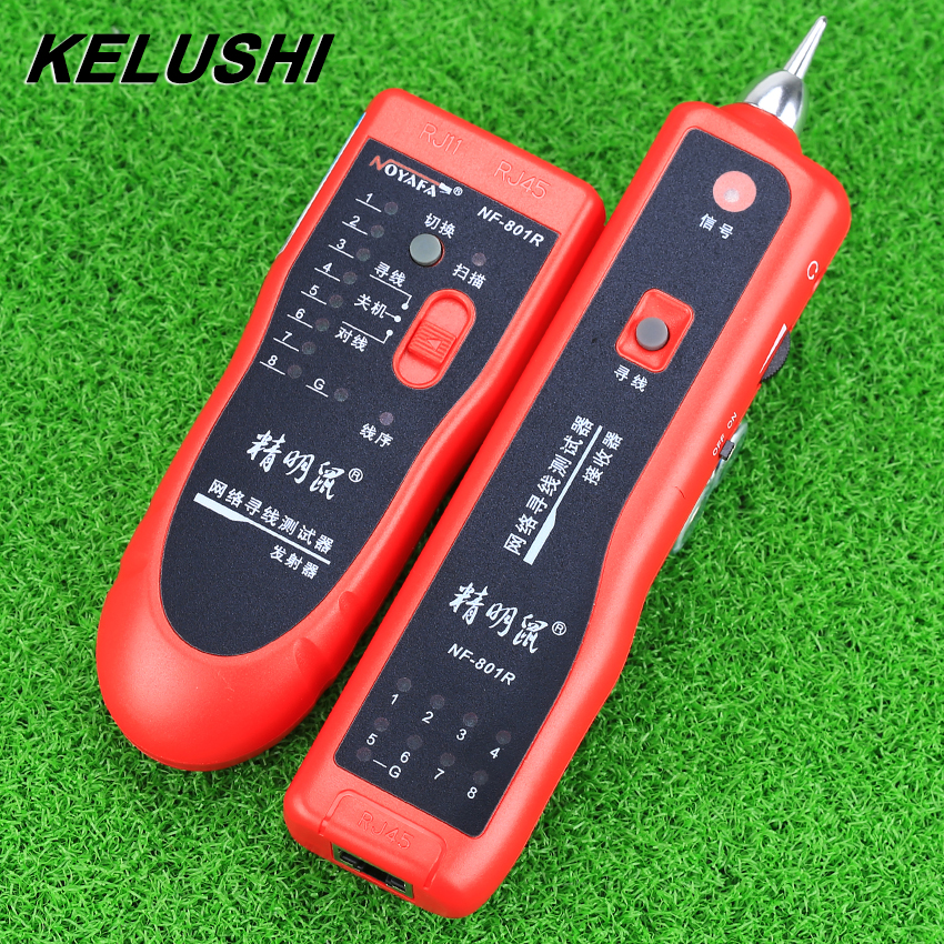 KELUSHI Tester Teacker KELUSHI Wire Tracer Cable Phone Line BNC Network Finder RJ11 RJ45 NF 801R fast shipping