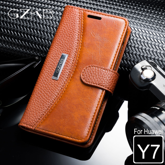 best sneakers 68a01 a1449 US $9.99 |For Huawei Y7 2017 Case Huawei Y 7 Cover GZKB Luxury Leather  Business Flip Wallet Cover For Huawei Y7 Phone Bags Cases 5.5''-in Wallet  Cases ...
