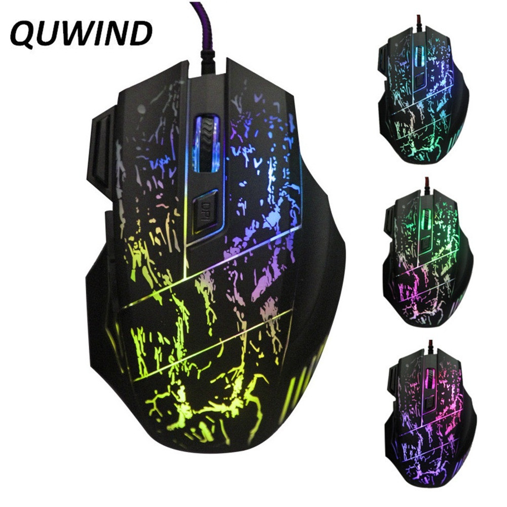 все цены на QUWIND Wired Game Mouse Optical USB Gaming Mouse 7 Button 5500 DPI 7 Colors Breathing Light Gaming Mouse Wired Mouse black