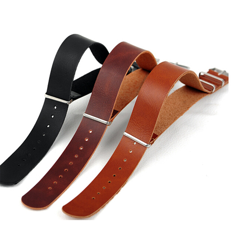New watch bracelet belt black watchbands genuine leather strap watch band 20mm 22mm watch accessories wristband