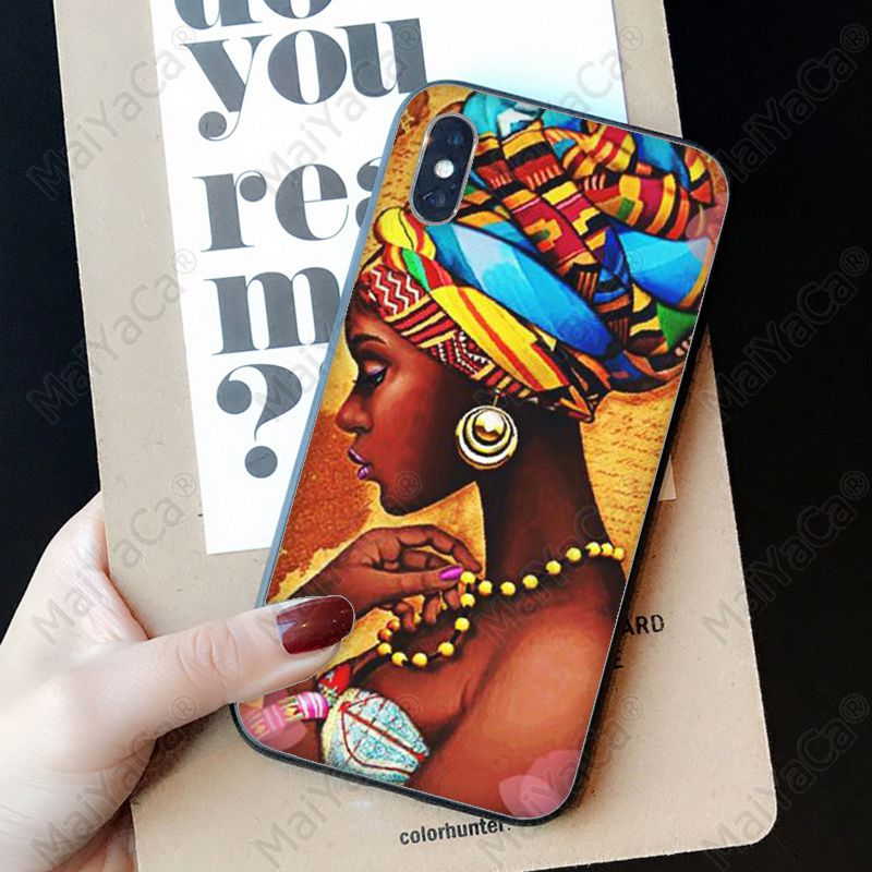 Colorful art african girl (13)