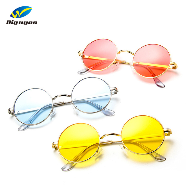 Fashion sunglass Round Sunglasses Women Men Classic Brand Designer Metal Frame Ladies Clear Lens Eye Glasses For Female 1