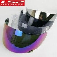 Ls2 ff352 lente capacete da motocicleta rosto cheio viseira também se encaixam ls2 ff351 ff369 ff384 capacete escudo 5 cor