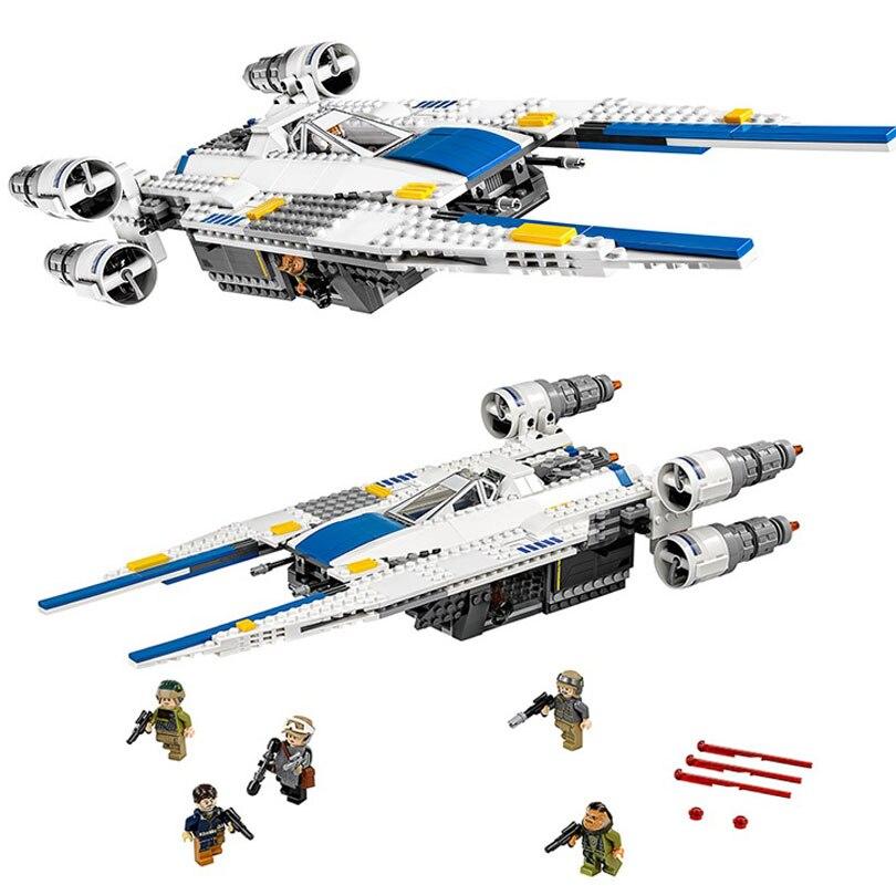 Les Rebelles U Wing Fighter Jets Modèle 679 pcs Blocs de Construction Briques Jouets Enfants Cadeaux Compatible Legoings Série Star Wars 75155