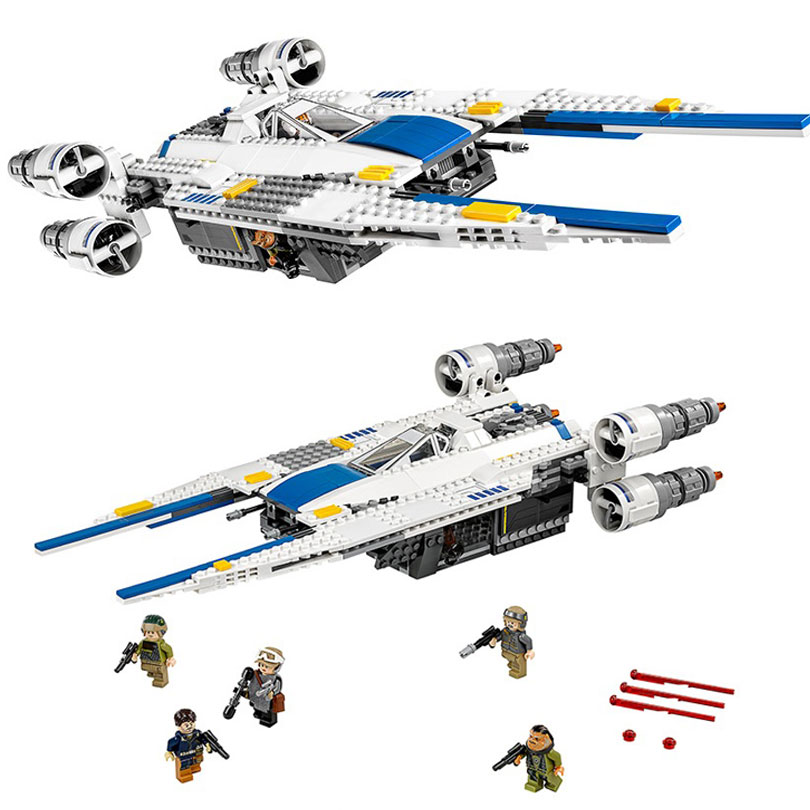 The Rebel U Wing Fighter Jets Model 679pcs Building Blocks Bricks Toys Kids Gifts Compatible Legoings Star Series Wars 75155 gudi 679pcs star space the shuttle launch center model building block bricks toys