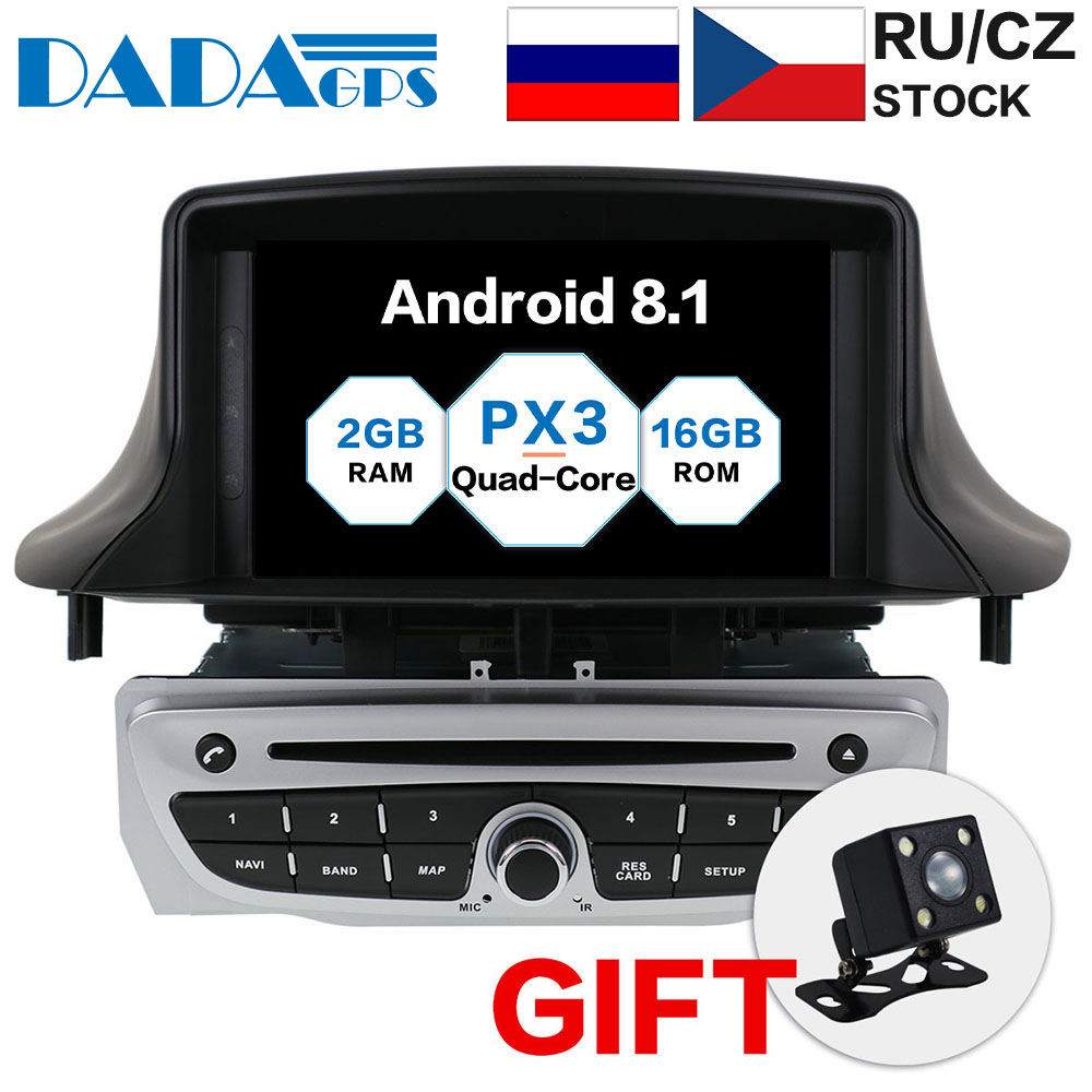 Newest <font><b>Android</b></font> 8.1 Car Radio DVD Player for Renault <font><b>Megane</b></font> <font><b>3</b></font> Fluence 2009-2015 Stereo Unit Multimedia GPS navigation head unit image