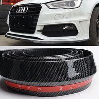 Universal Fake Carbon Fiber PU Car Front Bumper Lip Spoiler Splitter Side Skirt Car Boky Kit