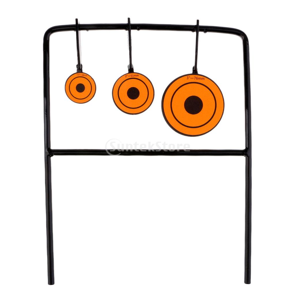 Self Resetting Spinner Target Shooting Practice 3 Sizes Steel Plates Targets Set ...