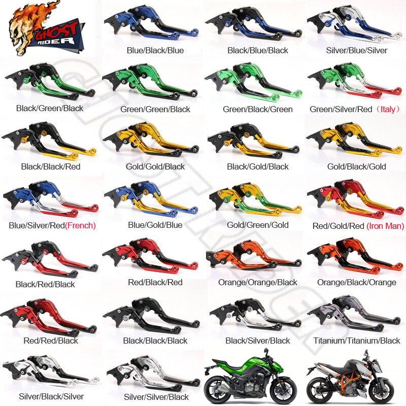ФОТО Motorcycle CNC Folding Extendable Brake Clutch Levers fits for KTM Honda Suzuki BMW Kawasaki Yamaha MV AGUSTA Aprilia DUCATI Tri