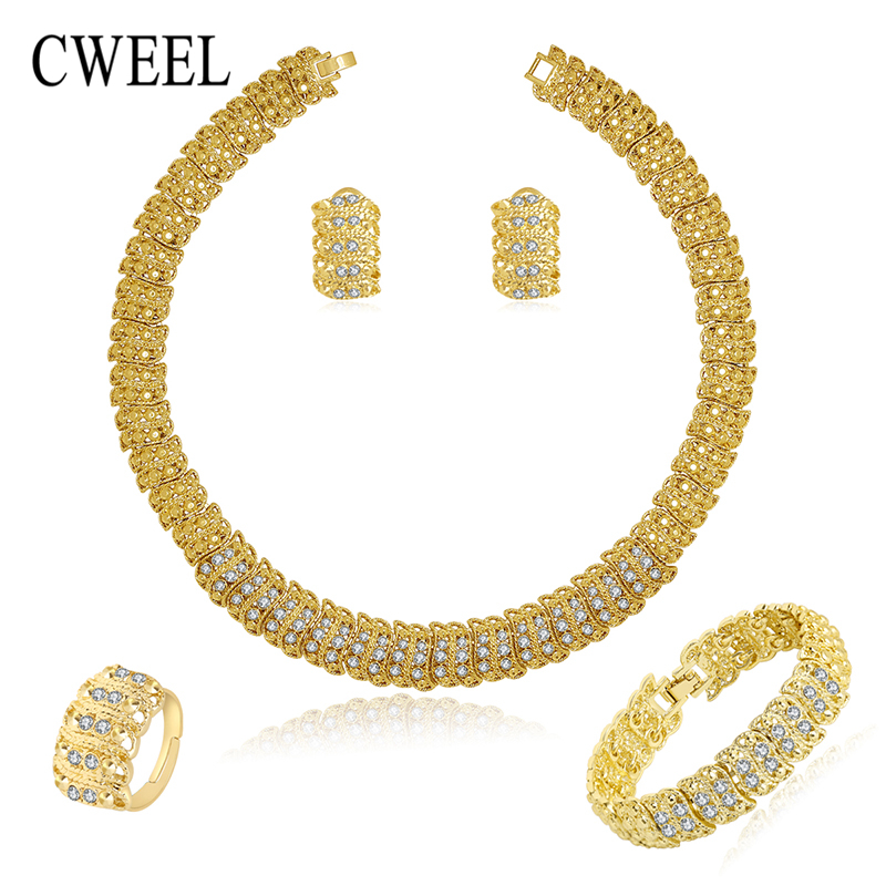 costume jewelry sets gold color fashion necklace