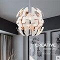 Скандинавский простой подвесной светильник с гальваническим покрытием акриловый гибкий деформируемый круглый креативный индивидуальный ...