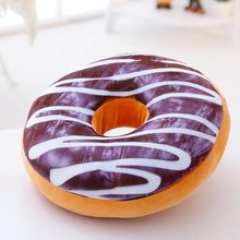 40cm High Quality Donut Cushion Creative Simulation Food Plush Toy Funning Kids Doll Office Nap Pillow Best Christmas Gifts(China)