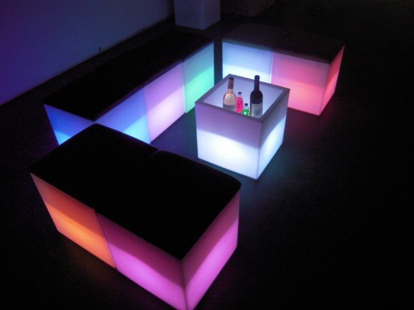 luminous/illuminated/ Lit chair/fashion/novelty/romance with 7colors cushion