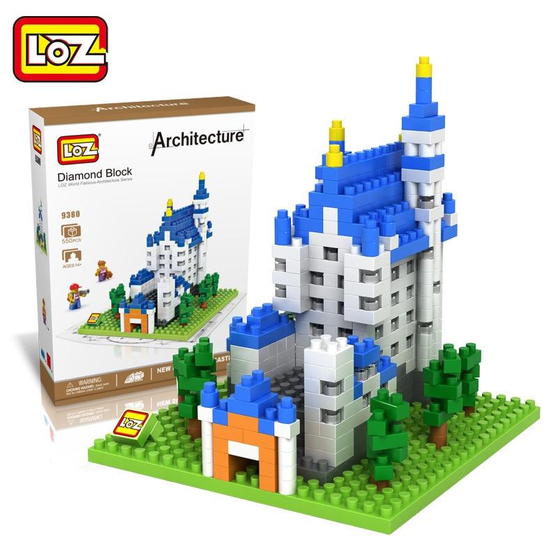 LOZ New Swan Stone Castle Diy Building Bricks Blocks Toy Action Figure Educational Kids Toys brinquedos juguetes menino loz gas station diy building bricks blocks toy educational kids gift toy brinquedos juguetes menino