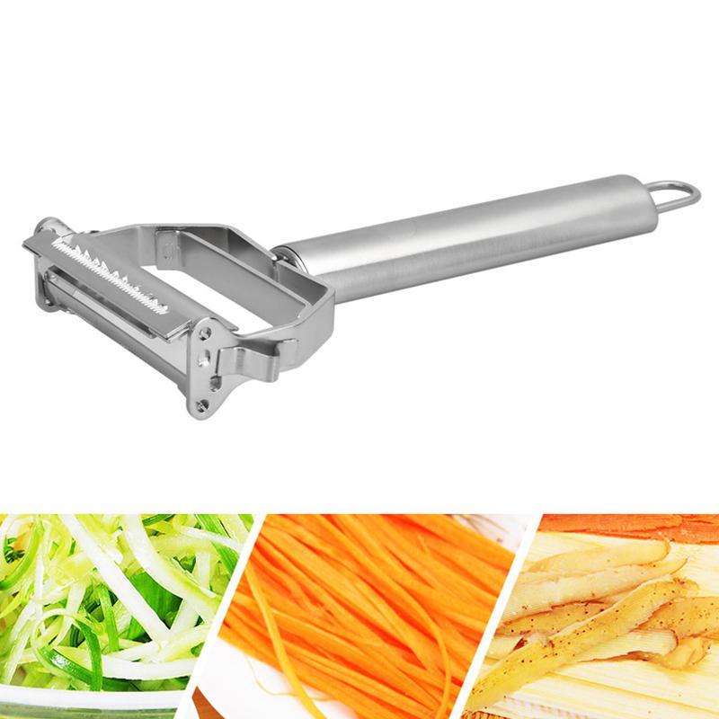 Stainless Steel Julienne Peeler 2 In 1 Fruit Vegetable Potato Carrot Peeler Sharp Slicer Cutter Shredder Cooking Kitchen Gadgets (1)