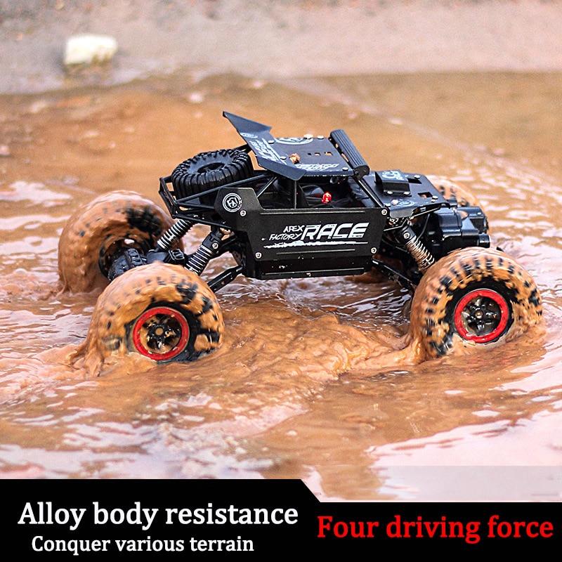 Rc автомобилей 1,3 кг 4CH 4WD рок сканеры 4x4 вождения автомобиля Double моторы Bigfoot автомобиль дистанционного Управление модель автомобиля внедорож...