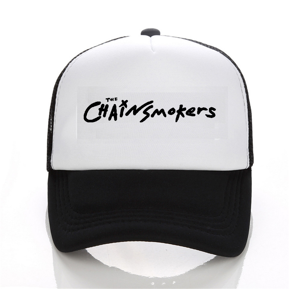 Fashion The Chainsmokers cap men Casual Brand  Summer baseball caps women trucker cap The Chainsmokers Hip-Hop Hat cntang summer embroidery letter w baseball cap fashion cotton snapback for men women trucker hat unisex casual caps gorras
