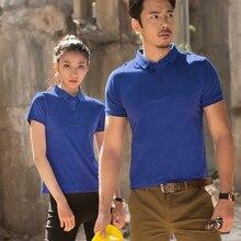 9276903e Polo For Woman Short Sleeve Ladies Shirt Couple Club Sports Polo Shirt  Cotton Breathable Loose Custom
