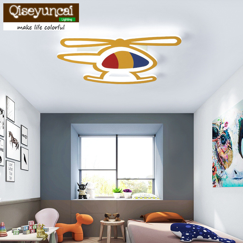 Ceiling Lights & Fans Lights & Lighting Smart Qiseyuncai Childrens Room Lamp Simple Modern Led Ceiling Lamp Creative Personality Aircraft Bedroom Boy Girl Cartoon Lamps Non-Ironing