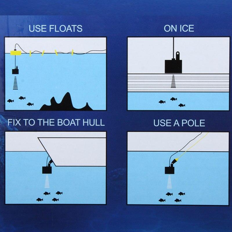 Détecteur de poisson à détection ultrasonique sondeurs écho sans fil 100 M navigateur sous-marin C55K vente