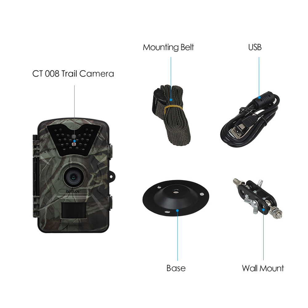 Image 5 - BOBLOV CT008 Wildlife Trail Photo Trap Hunting Camera 12MP 1080P 940NM Waterproof Video Recorder Cameras for Security Farm Fast-in Hunting Cameras from Sports & Entertainment