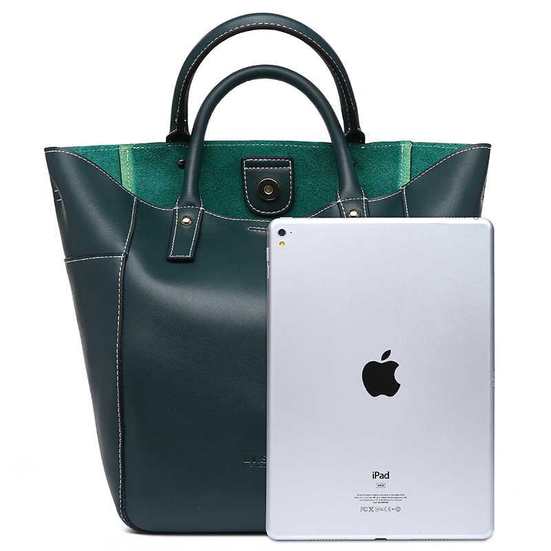 LY. Köpekbalığı marka moda kadın omuzdan askili çanta kadın deri çanta Vintage Crossbody askılı çanta kadınlar için 2019 hakiki deri