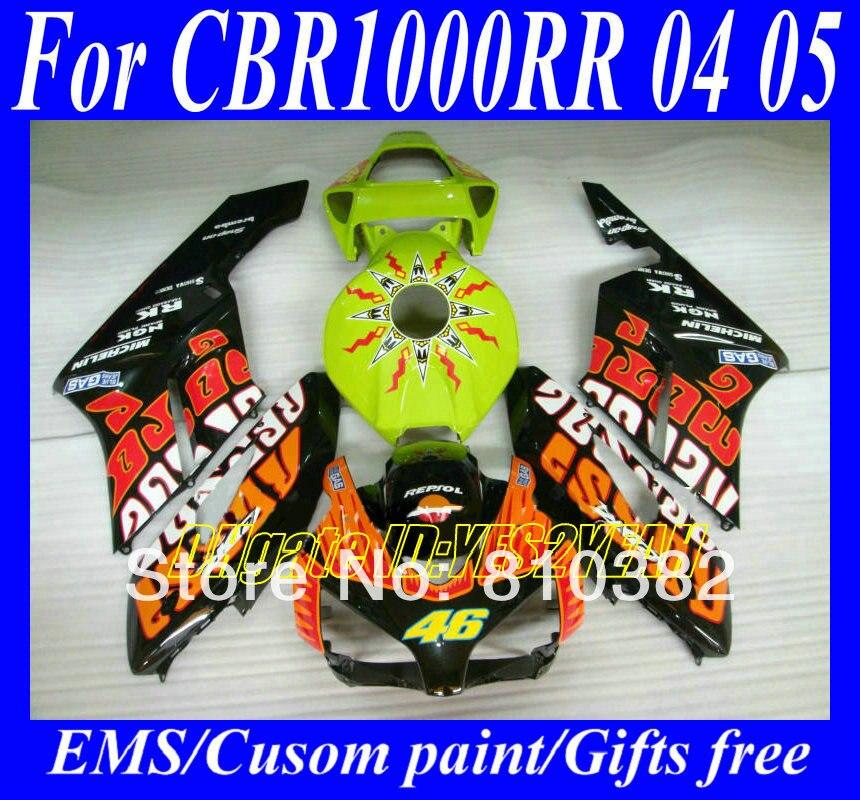 H1462 REPSOL Injection mold ABS Fairings for HONDA CBR1000RR 2004 2005 CBR1000 RR CBR 1000RR 04 05