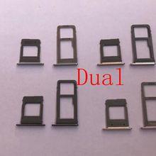 New Original For Samsung A5 A7 2017 A520 A720  Sim Card Tray Slot Holder + Micro SD Card Holder Repair Parts