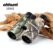 Cheapest prices Hunting ohhunt B2 10X42 Camouflage Binoculars Waterproof Fogproof Telescope Wide-angle Bright Optics Camping Hiking Binocular