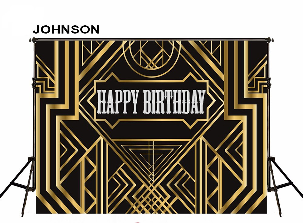 Great Gatsby Retro Golden Metal Black Wall Party Background Vinyl cloth High quality Computer print birthday backdrop fitzgerald f the great gatsby stage 5 сd