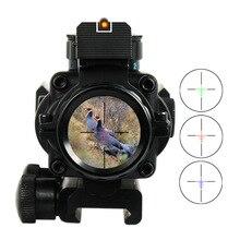 4×32 Acog Оптика Сфера Тактический Прицел 20 мм Ласточкин Хвост Рефлекс Прицел Для Охотничьего Ружья Винтовка Airsoft Снайпер Лупа пневматический Пистолет