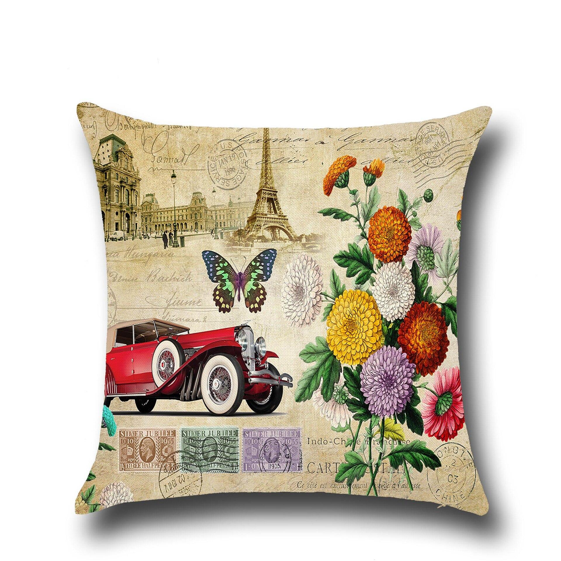 line Shop Fashion Retro Vintage Inspired Cushion Covers Sofa