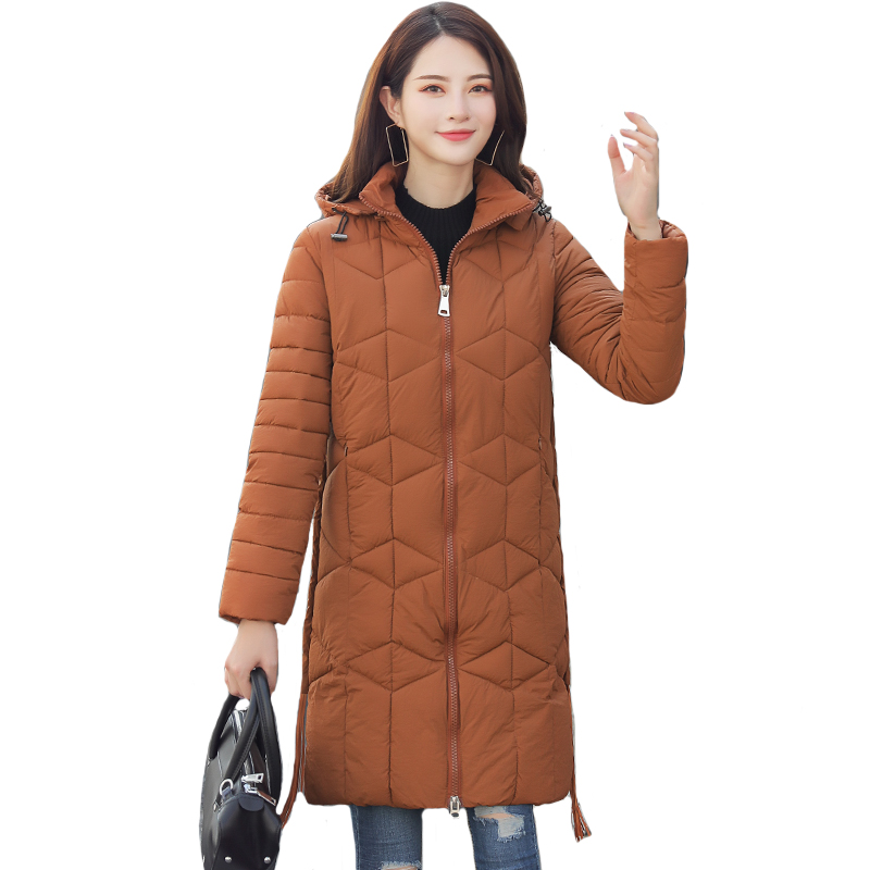 2019 New Arrival Winter Jacket Women Hooded 7 Colors Long Padded Female Coat Outwear   Parka   Chaqueta Mujer Invierno