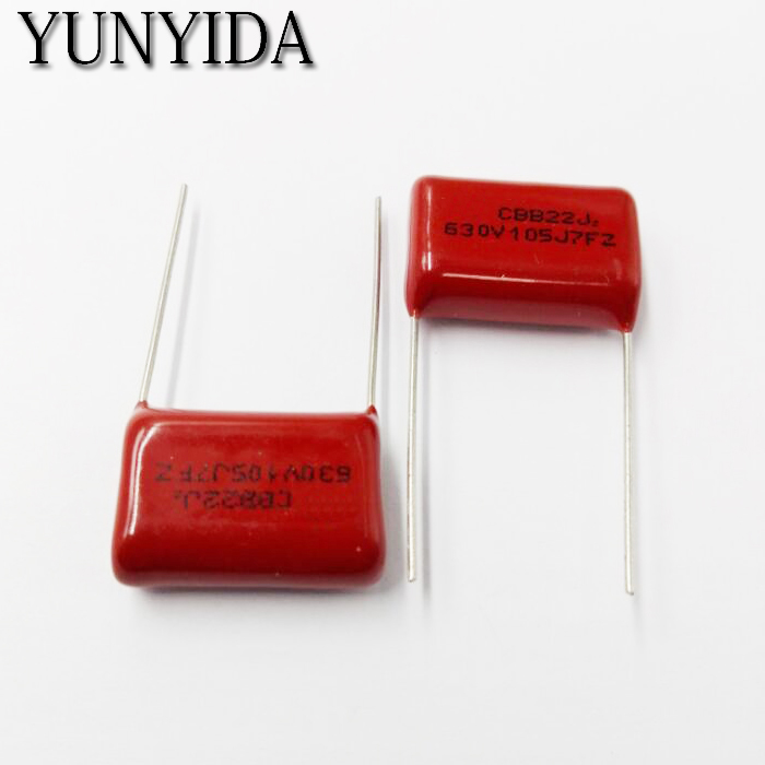 Free Shipping 10pcs, CBB 105J  630V  1uF  P20mm  Metallized Film Capacitor  105 630V  630V105J