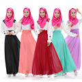 2016 Apliques Nueva Ropa Abaya Jilbabs Y Abayas Gasa Árabe Turquía Malasia Musulmán de Las Mujeres Vestido De Gran Tamaño de 5 Colores