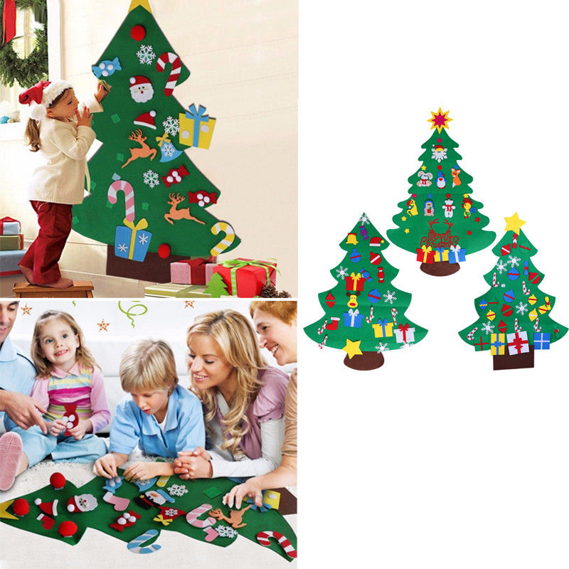 new year gifts kids diy felt christmas tree decorations christmas gifts for 2018 new year 39 s door. Black Bedroom Furniture Sets. Home Design Ideas