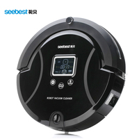 Robotic Vacuum Cleaner Auto Clean Spot Clean For Carpet Wooden Floor With LCD Screen UV Sterilize