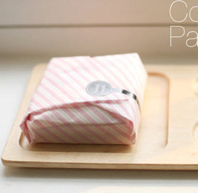 200 pink stripe sandwich wrap paper wax coating greaseproof for hamburger food wrapping candy. Black Bedroom Furniture Sets. Home Design Ideas