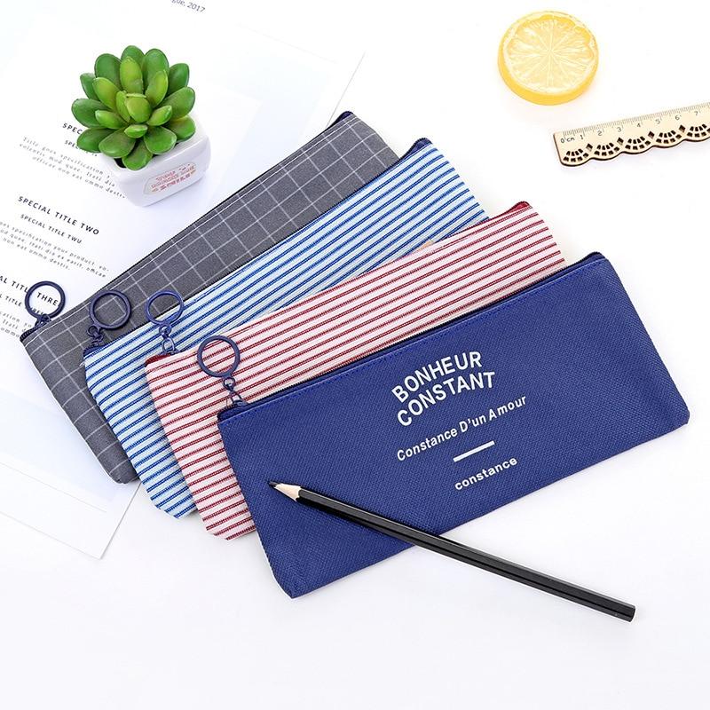 Kawaii Canvas Pencil Case Office Student Pencil Cases Kalem Kutusu School Supplies Pen Box Astuccio Scuola